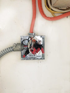 Wires in junction box